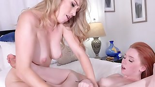 Blonde adores acquiring her pussy licked by a redhead
