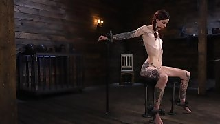 Skinny alt redhead properly be possessed a mysterious master